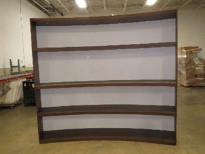 Large Wood Cabinet with Shelves
